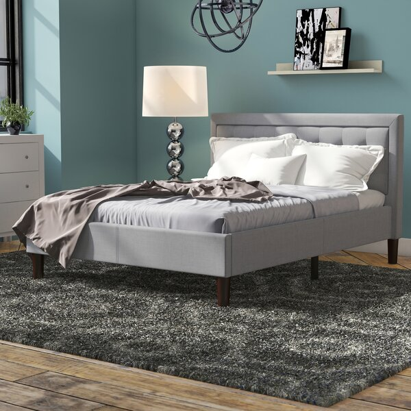 Atkin Upholstered Platform Bed by Wrought Studio