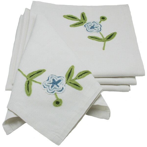 Flora Linens Napkin (Set of 4) by Xia Home Fashions