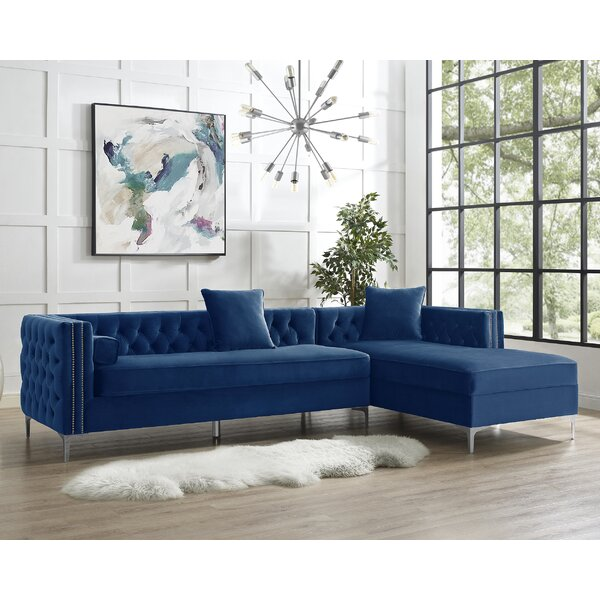 Top Brand 2018 Kaufman Sectional by Everly Quinn by Everly Quinn