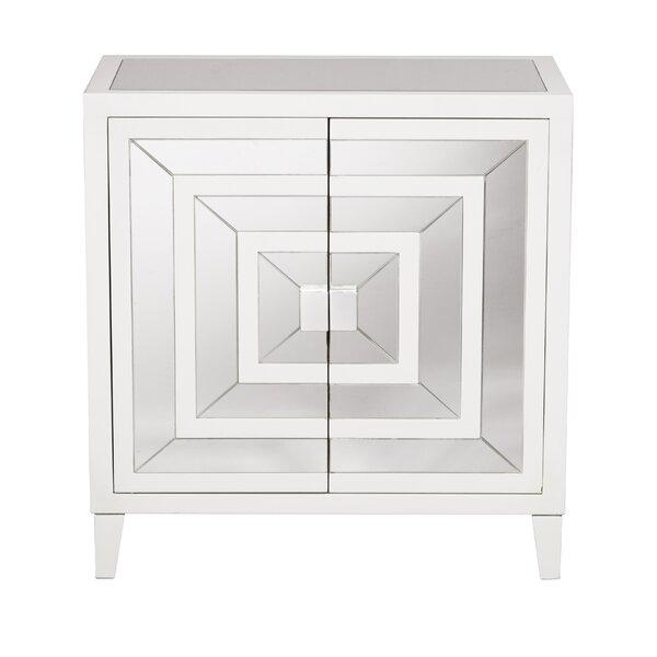 Square Mirror Overlay 2 Door Accent Cabinet by Willa Arlo Interiors