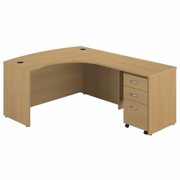 Series C Single Pedestal L-Shape Executive Desk by Bush Business Furniture