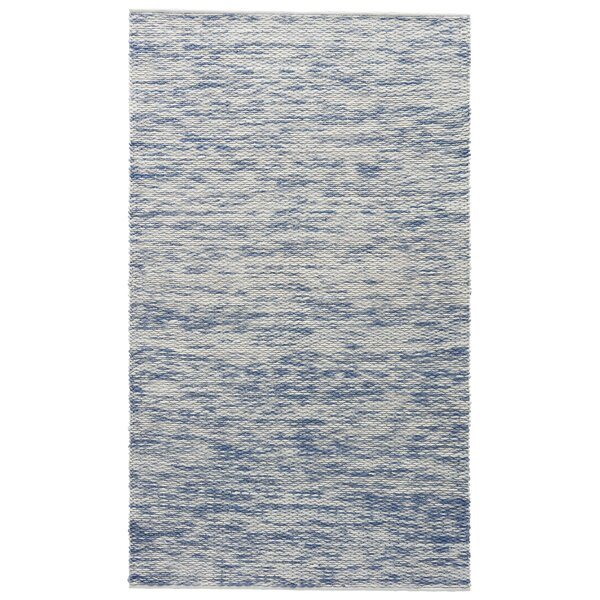 Norridgewock Whisper White/Infinity Textured Area Rug by Breakwater Bay