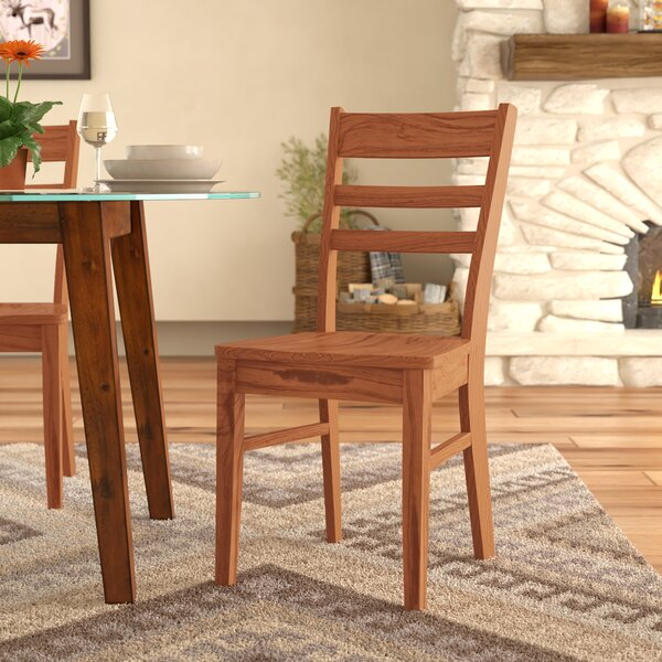 Fresno Ladder Back Solid Wood Dining Chair By Loon Peak