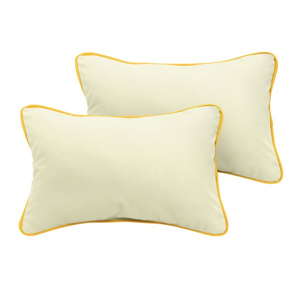 Sarana Sunbrella Outdoor Lumbar Pillow (Set of 2) by Rosecliff Heights