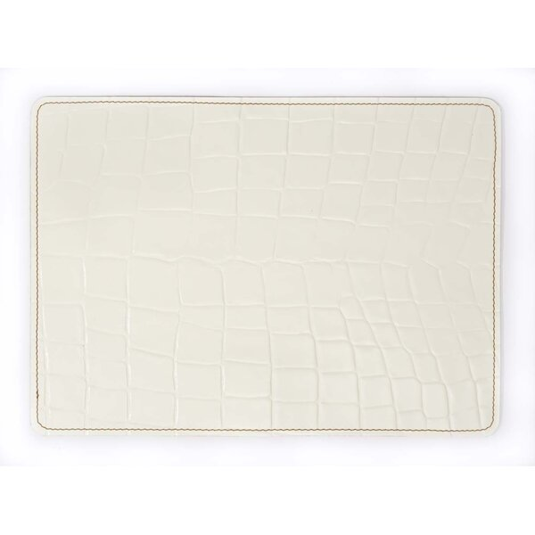 Andeline Bianco Croc 13'' Placemat by EcoDomo