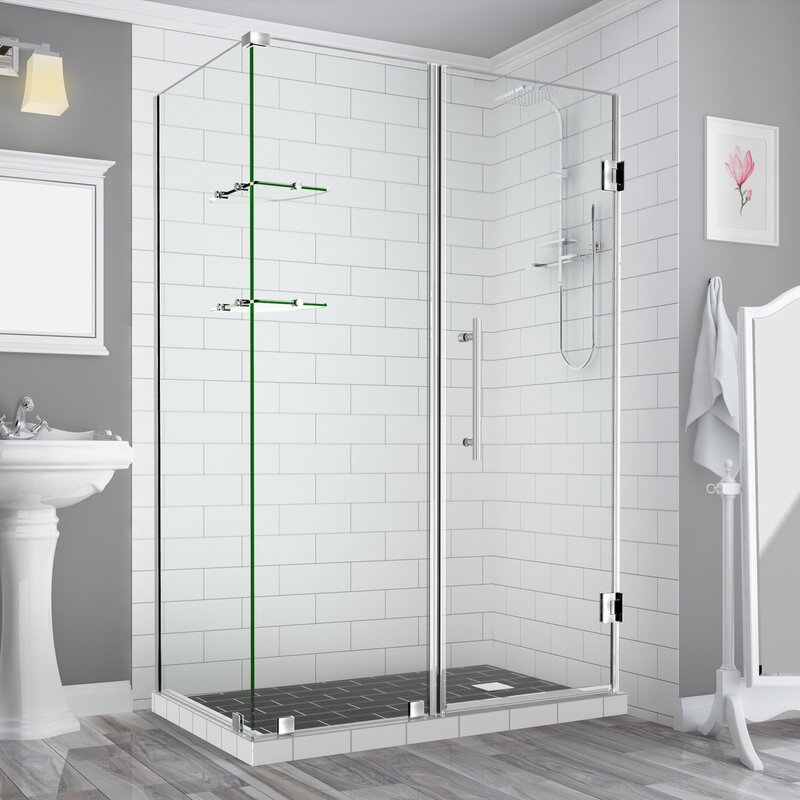Aston Bromley GS Frameless Corner Rectangle Hinged Shower Enclosure ...