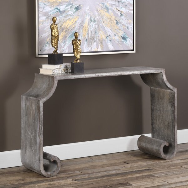 17 Stories Metal Console Tables