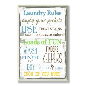 Jana Laundry Room Framed Textual Art On Wood by August Grove