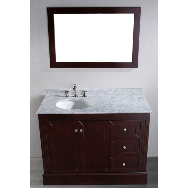 Rutland 45 Single Bathroom Vanity Set with Mirror by Latitude Run