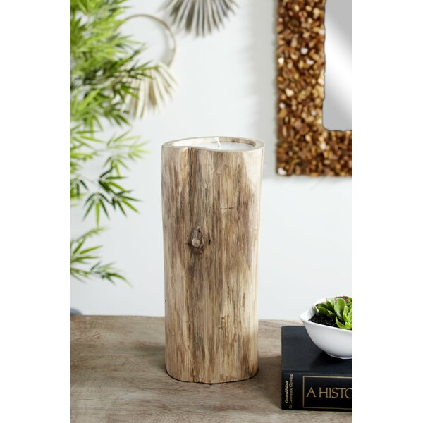 Teak Candle and Tree Wood Dish by Foundry Select