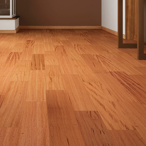 3 Solid Tigerwood Hardwood Flooring in Brown by IndusParquet