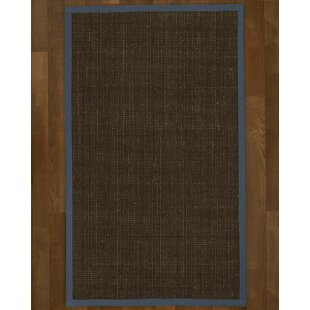 Jezebel Hand-Hooked Brown Area Rug by Breakwater Bay