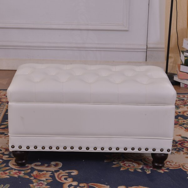 Classic Tufted Storage Ottoman by Bellasario Collection