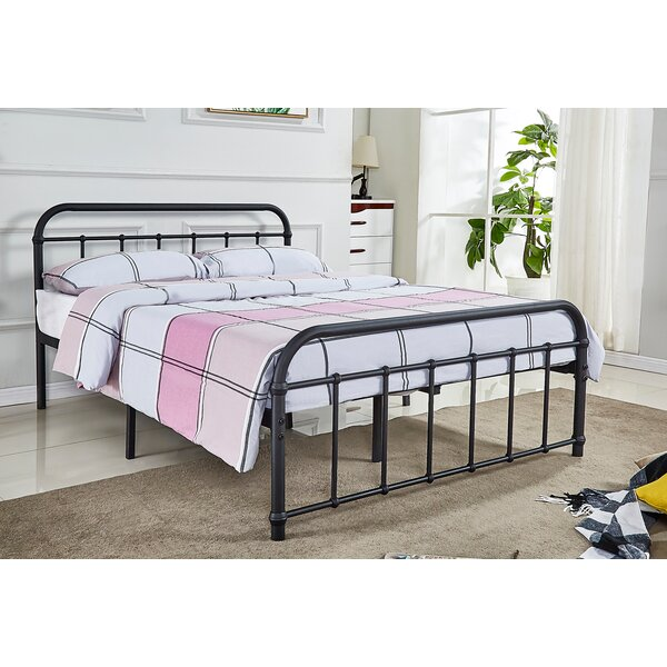 Vandalia Metal Platform Bed by Rosalind Wheeler