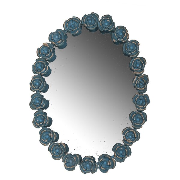 Rose Frame Oval Wall Mirror by A&B Home