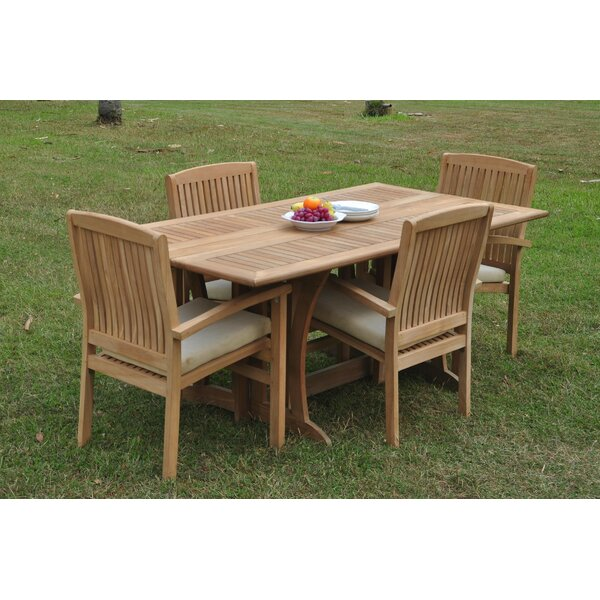 Rincon 5 Piece Teak Dining Set by Rosecliff Heights