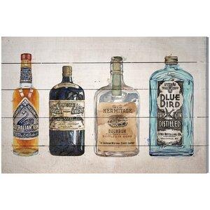 'Vintage Liquors' Graphic Art Plaque by Zipcode Design