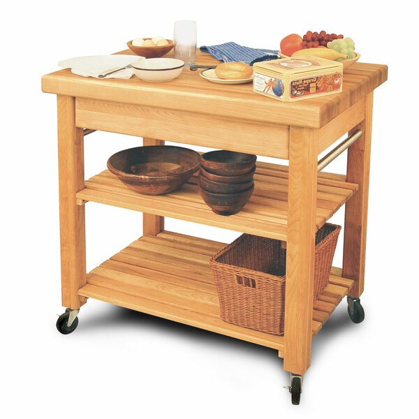 French Country Solid Wood Kitchen Cart by Catskill Craftsmen, Inc.
