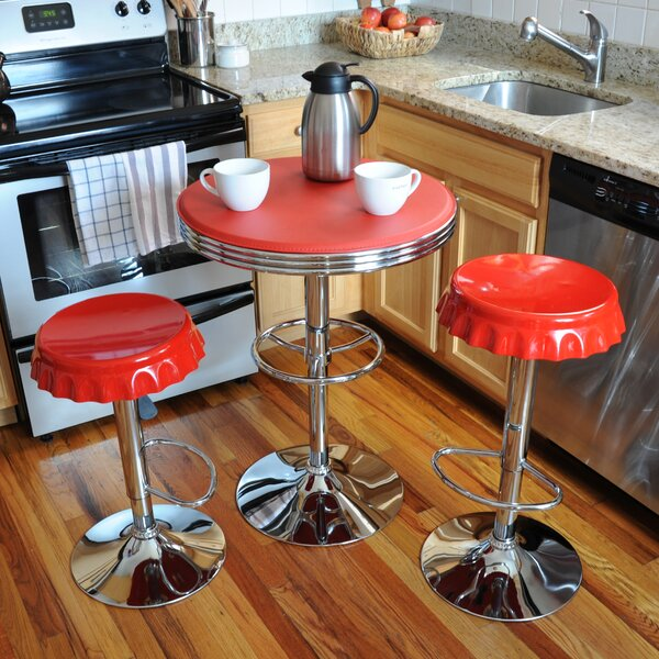 Southampton Retro Soda Cap 3 Piece Pub Table Set by Latitude Run