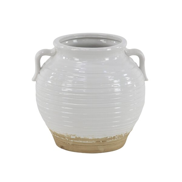 Loraine Modern Lacquered Ceramic Pot Planter by Charlton Home