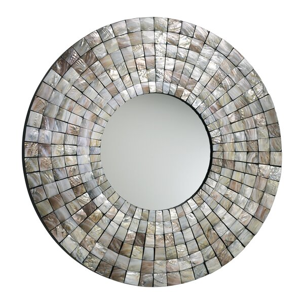36 H x 36 W Mosaic Tile Mirror by Cyan Design