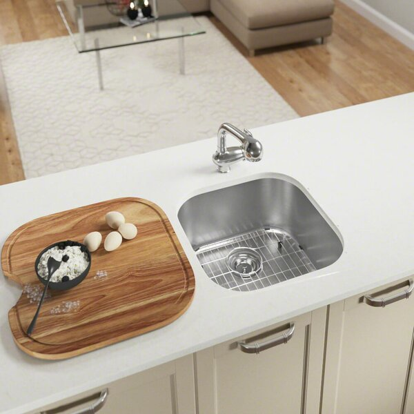 Stainless Steel 20 x 20 Undermount Bar Sink by MR Direct