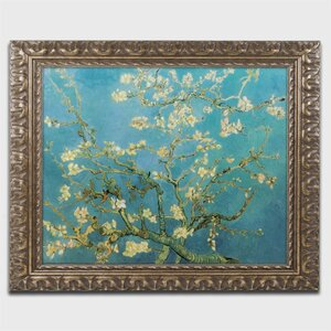 Almond Branches by Vincent van Gogh Framed Painting Print by Trademark Fine Art