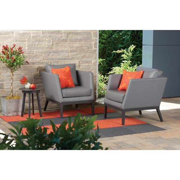 Mandeville 3 Piece Conversation Set with Cushions by Beachcrest Home Beachcrest Home