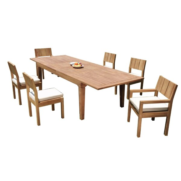 Mclea 7 Piece Teak Dining Set by Rosecliff Heights