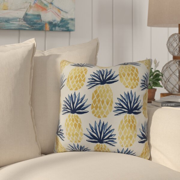Costigan Pineapple Stripes Throw Pillow by Bay Isle Home