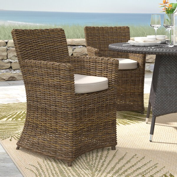Camryn Patio Dining Chair with Cushion (Set of 2) by Beachcrest Home Beachcrest Home