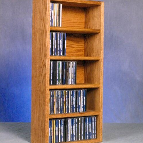 130 CD Wall Mounted Multimedia Storage Rack By Rebrilliant