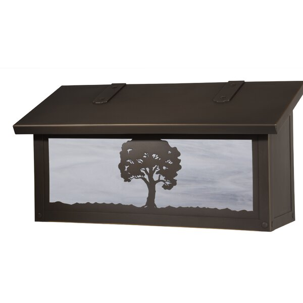 Oak Tree Locking Wall Mounted Mailbox by America's Finest Lighting Company
