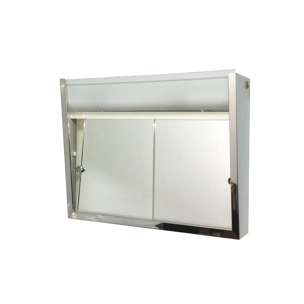 Valdez Edge Mirror Door 19 x 24 Surface Mount Frameless Medicine Cabinet with Adjustable Shelves by Symple Stuff