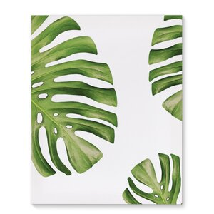 'Side Palms' Graphic Art Print on Wrapped Canvas by KAVKA DESIGNS