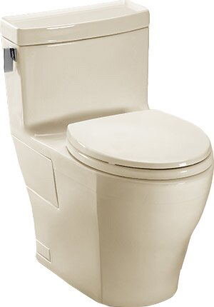 Legato 1.28 GPF (Water Efficient) Elongated One-Piece Toilet with High Efficiency Flush (Seat Included) by Toto