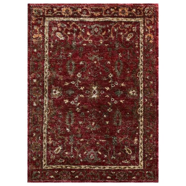 Cozette Hand-Knotted Red Indoor/Outdoor Area Rug by Bloomsbury Market