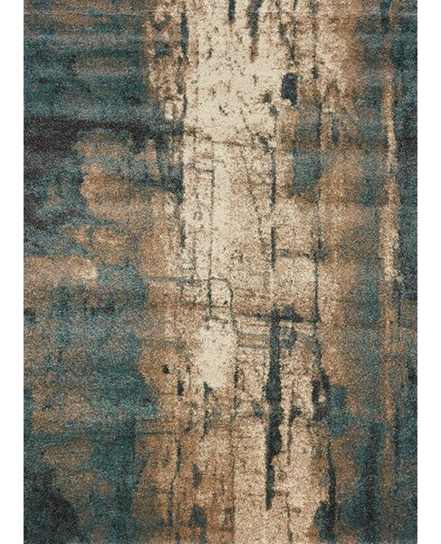 Aubuchon Watercolor Cream/Blue Area Rug by Brayden Studio