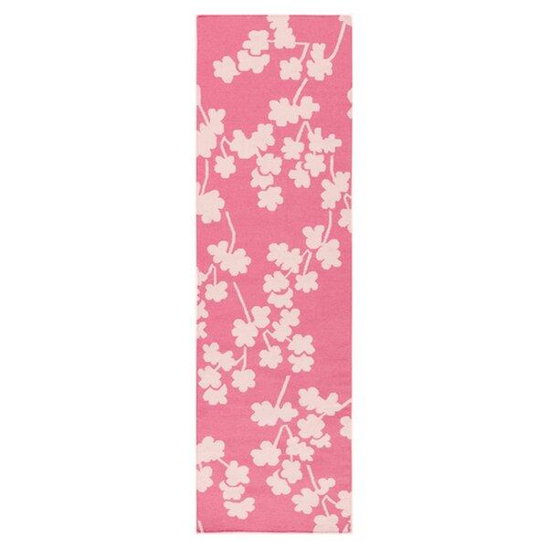Gilda Flamingo Hand-Woven Pink Area Rug by Viv + Rae
