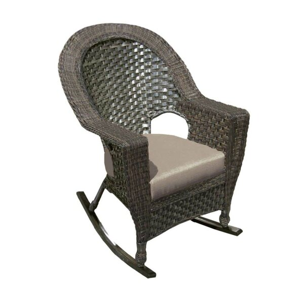 Biggs High End Back Rocking Chair with Cushions by Highland Dunes