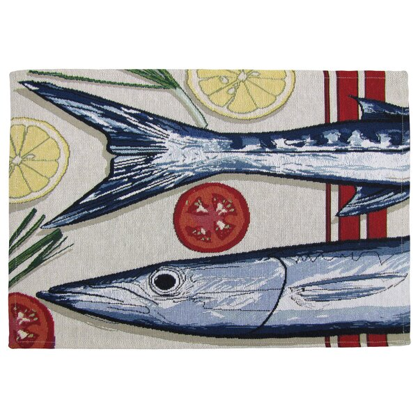 Gearhart Fish Market Tapestry Placemat (Set of 4) by Winston Porter