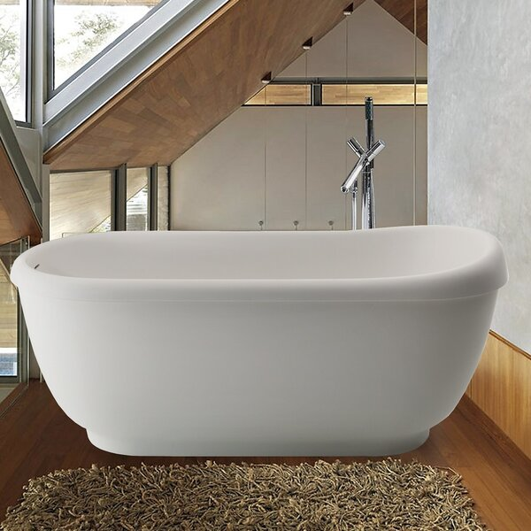 Fido 65.75 x 29 Soaking Bathtub by Aquatica