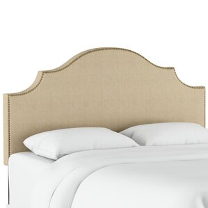 Eduard Nail Button Notched Upholstered Panel Headboard by World Menagerie