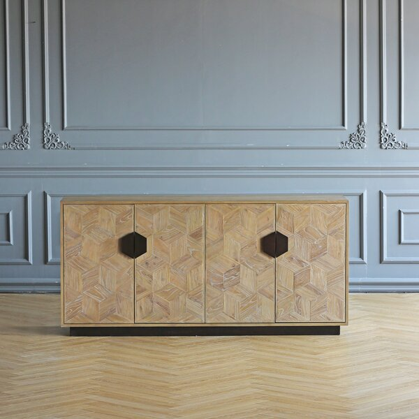 Peale 70.86'' Wide Elm Wood Sideboard by Bloomsbury Market Bloomsbury Market