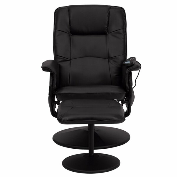 Heated Reclining Massage Chair with Ottoman [Red Barrel Studio]