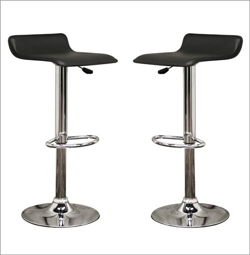 Spicer Adjustable Height Swivel Bar Stool (Set of 2) by Ebern Designs