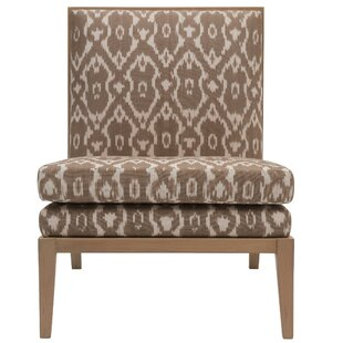 Madeleine Parisian Ikat Print Slipper Chair ...