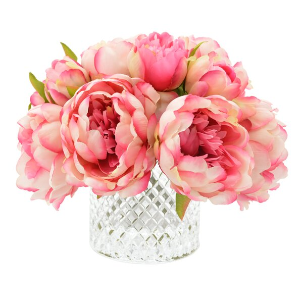 Lush Peony Bouquet by House of Hampton