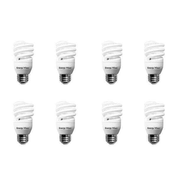13W E26 Compact Fluorescent Spiral Light Bulb Frosted (Set of 8) by Bulbrite Industries