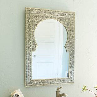 antique brass bathroom mirror wayfair rh wayfair com brass bathroom mirror light brass bathroom mirror uk